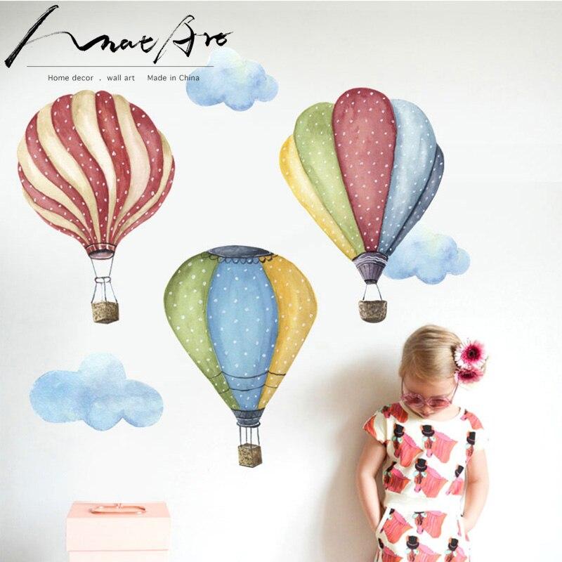 Pegatina para globo de aire caliente decoración de la habitación de los niños arte de la pared decoración moderna del hogar Decoración del dormitorio de la sala de estar decoración de la habitación de los niños arte diy