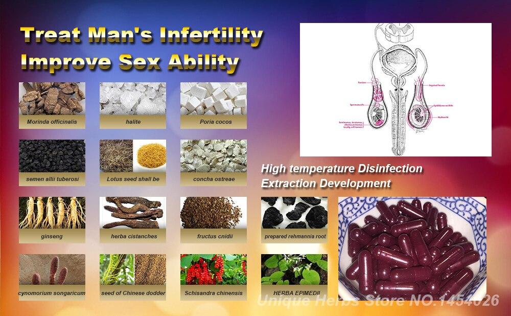 Fórmula de crecimiento de esperma de toda la medicina Natural a base de hierbas extracción, nutre las células de esperma para astillas, aumenta el número de esperma