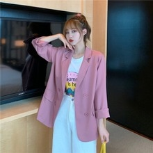 Chic Internet Celebrity Thin Suit Jacket Women's Summer 2021spring Korean Style Loose British Style