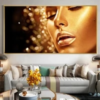 gold nude african art woman canvas painting posters and prints scandinavian wall art home decor picture for living room