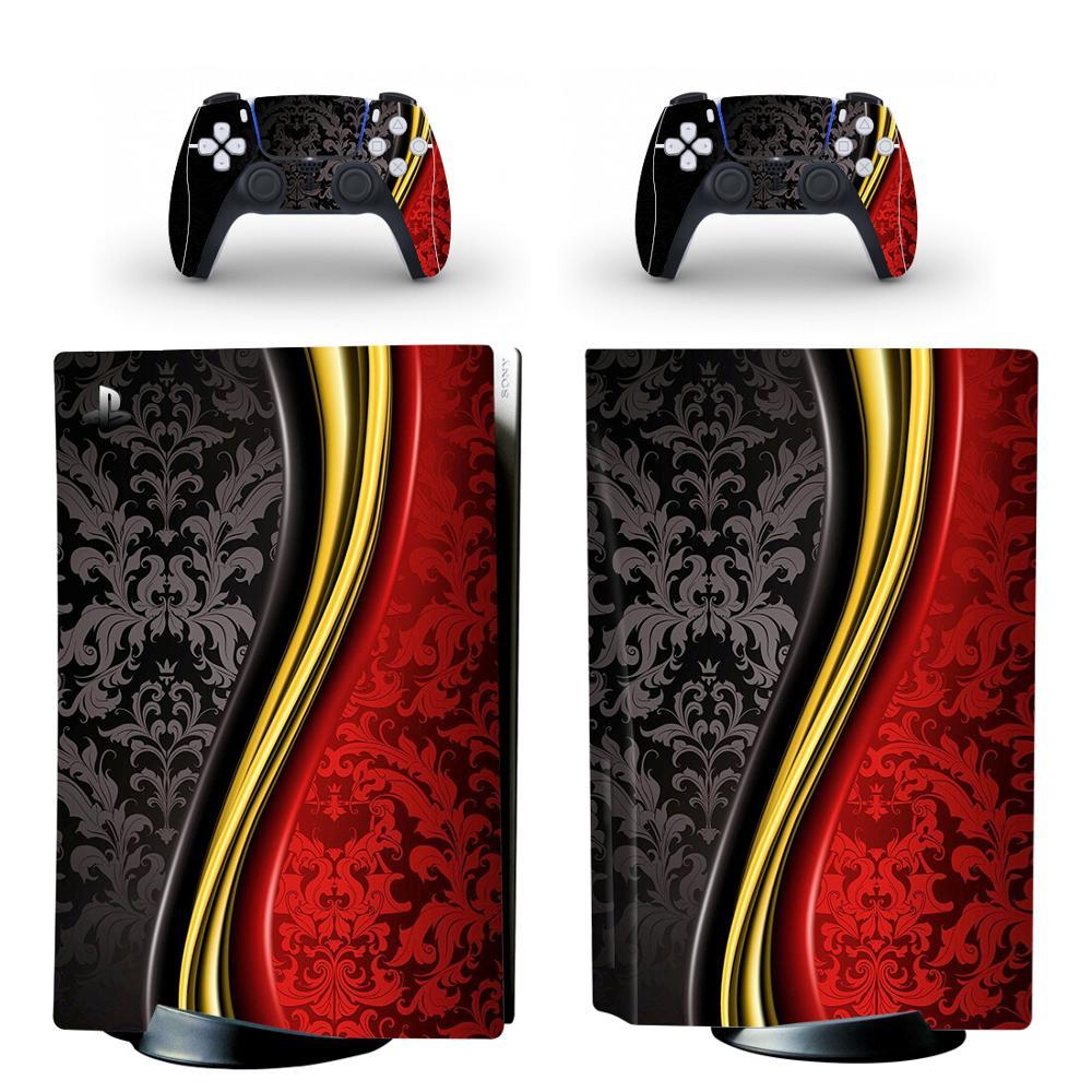 ملصقات فينيل إصدار القرص القياسي لجهاز PS5 ، ملصقات لوحدة تحكم PlayStation 5 ووحدة التحكم PS5