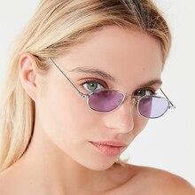 Abay Metal Small Oval Sunglasses Women Ocean Water Lens Brand Designer Men Sun Glasses Street Shooti