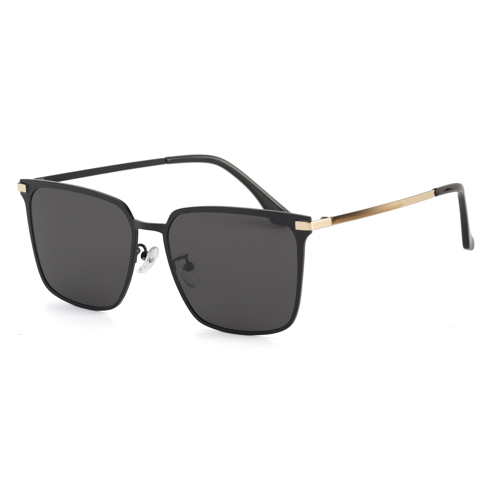 New High Definition Polarized Sunglasses for Men 3099 Square Metal European and American Trend