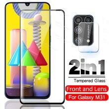 2 en 1 caméra lentille Protection décran pour Samsung Galaxy M31 M 31 SM-M315F/DS Tremp verre de sécurité 6.4