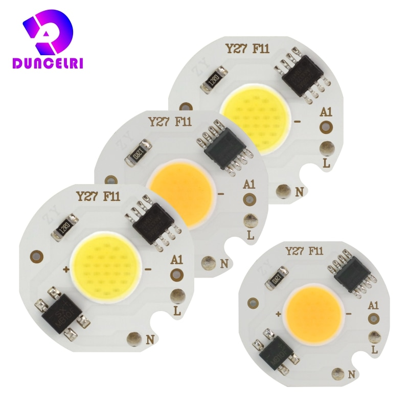 [mingben] 5pcs led cob chip 18w 15w 12w 9w 7w 5w 3w ac 220v smart ic light high lumen chip for bulb diy led spotlight light bead 10pcs/lot MINI LED COB Chip 220V 3W 5W 7W 9W Smart IC No Need Driver LED Bulb Lamp for Flood Light Spotlight Downlight Lighting