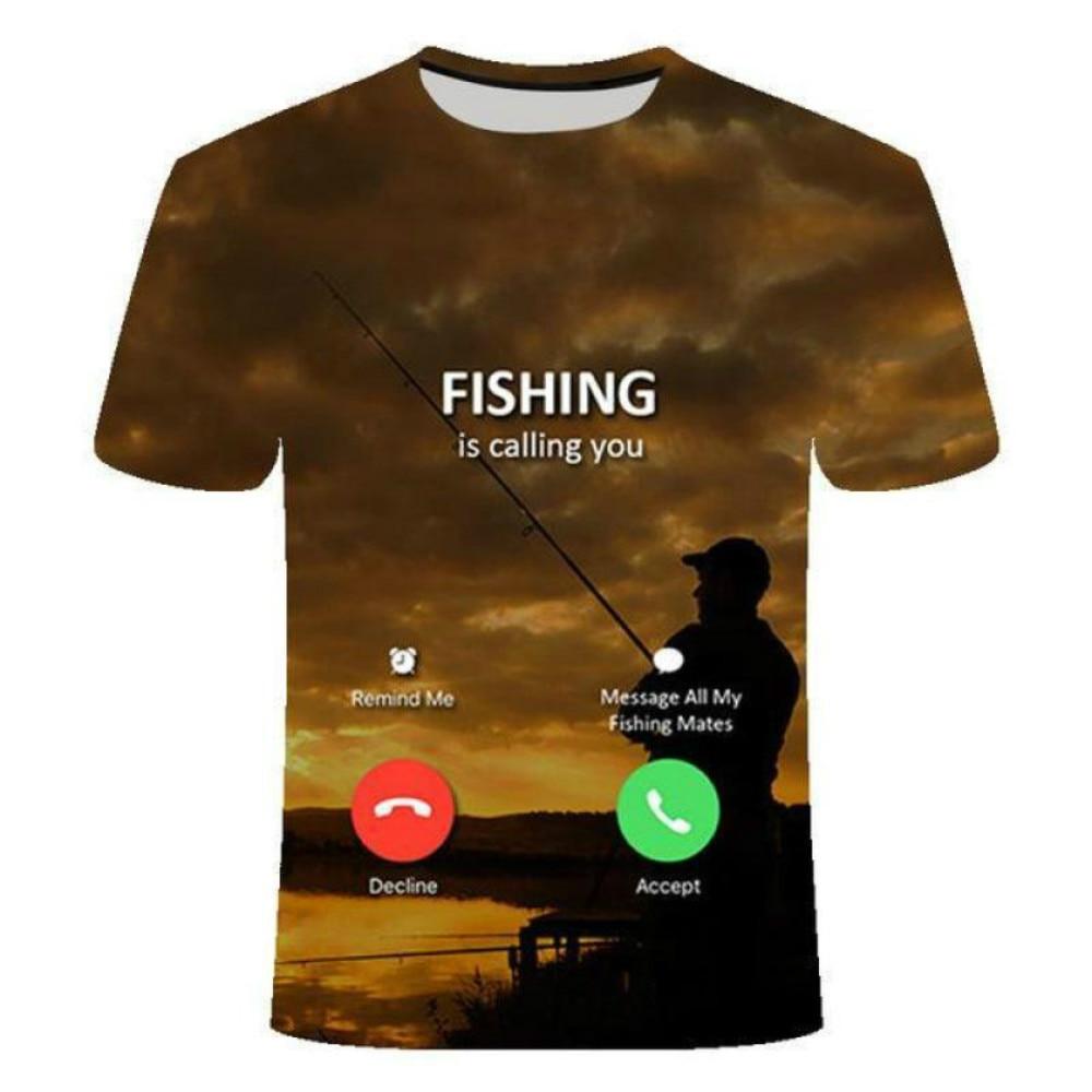 Фото - latest hot sale 3D fishing T-shirt casual hip-hop T-shirt Harajuku 3D fish fishing round neck shirt 2021 latest hot sale 3d cartoon print short sleeved t shirt harajuku t shirt 110 xxs 6xl