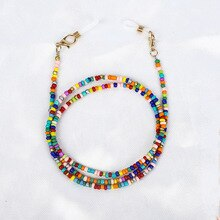 Boho Hang Mask Chains Holder Colorful Beaded Eyeglass Strap Glasses Cord Lanyard Anti-Lost Neck mask