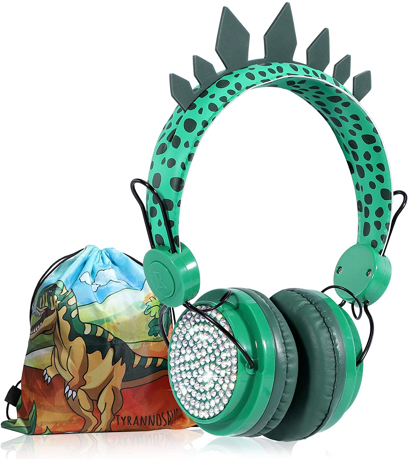 Kids Dinosaur Headphones Boys Wireless Bluetooth Headset With Mic Over On Ear for School Computer Ip