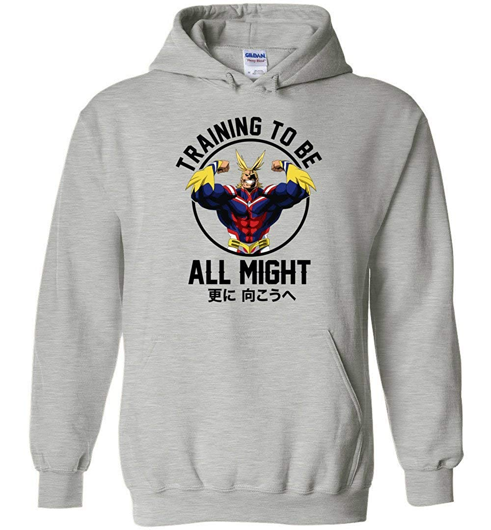 Training to Be All Might   Boku No - My Hero Academia Inspired Gym Unisex Pullover Hoodie Men/Women Men Women Hoodie Sweatshirt