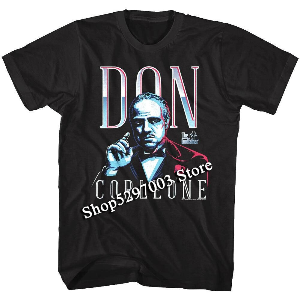 Camiseta de hombre Godfather Chrome Don Vito Corleone Marlon Brando, camiseta de alta calidad con estampado informal de la Mafia italiana