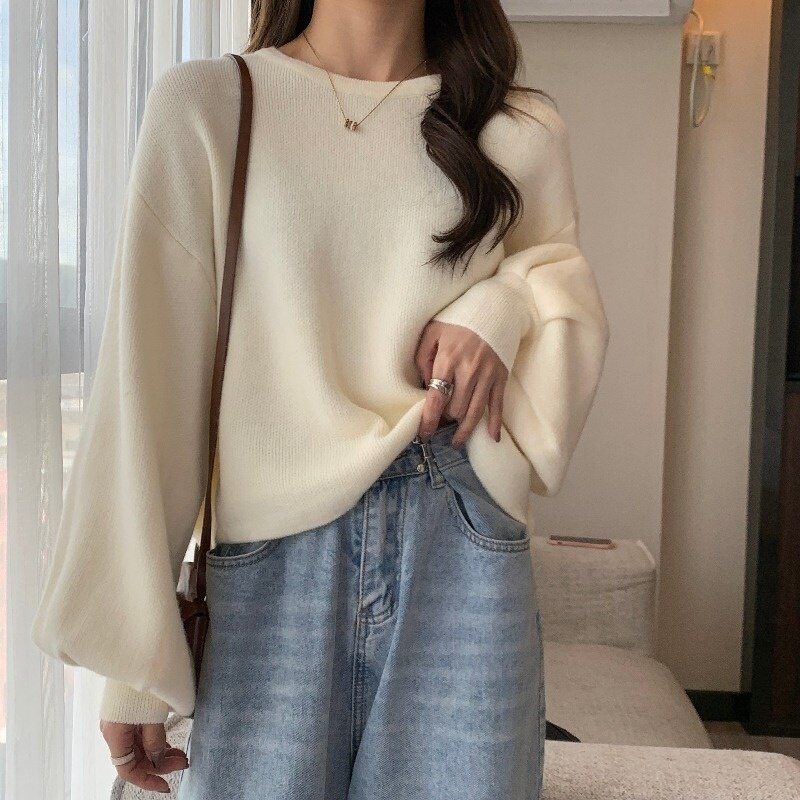 C604 أوائل الخريف سترة المرأة فضفاض و كسول نمط Pitaya لباس خارجي الربيع والخريف قصيرة تريكو جديد 2021 شعبية