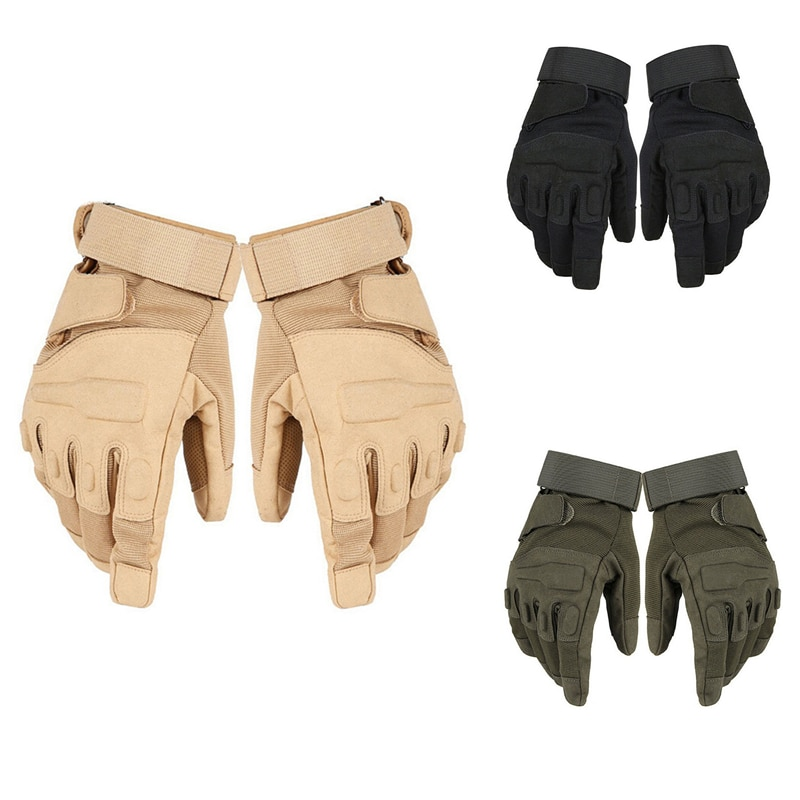 Winter Outdoor Sports Running Glove Warm Mittens Full Finger Army Tactical Mittens Wear-resistant Ri