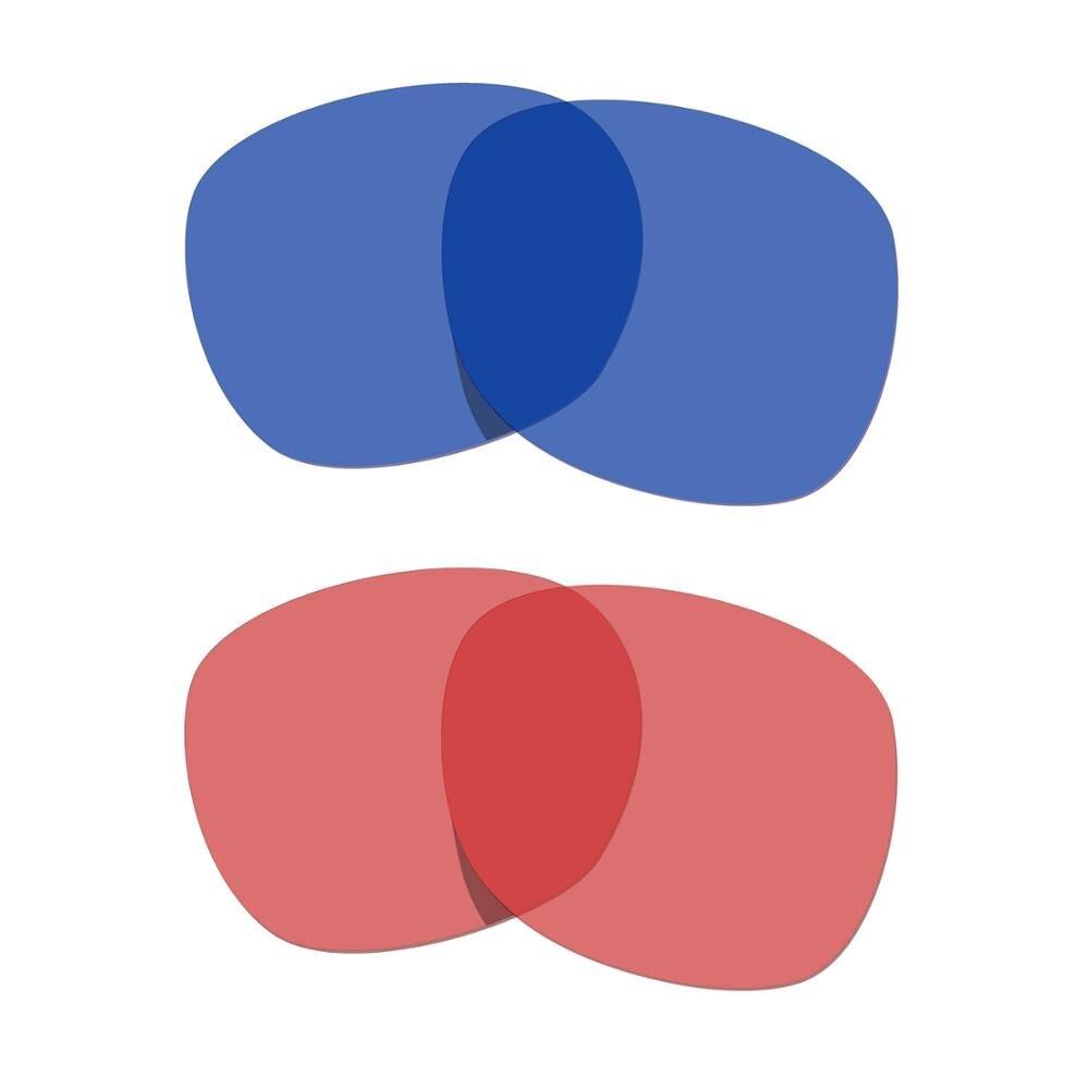 HKUCO المرآب روك النظارات الشمسية استبدال العدسات المستقطبة 2 أزواج-شفافة الوردي و شفافة الأزرق