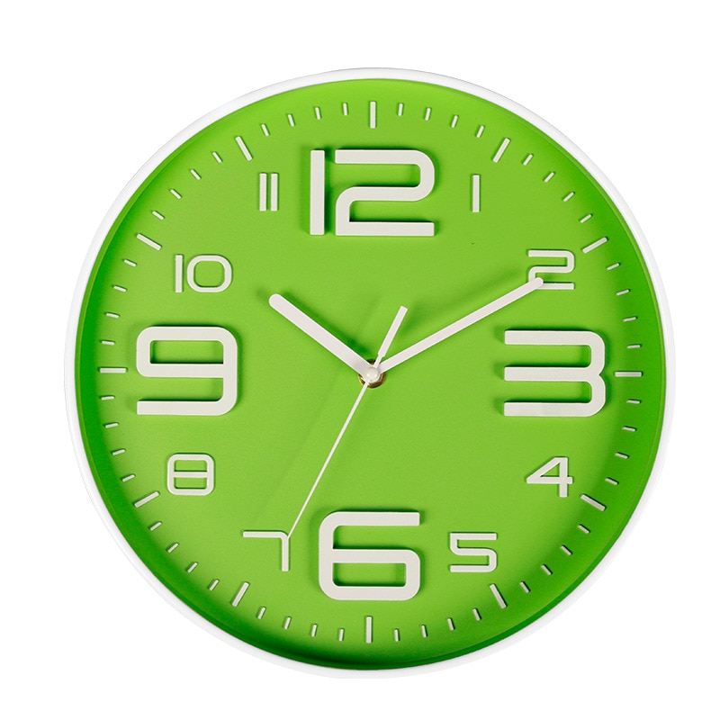 Reloj de Pared Digital grande, silencioso, nórdico, creativo, amarillo, moderno, para hogar, Reloj de Pared Simple, Reloj de Pared, decoración para sala de estar MM60WC