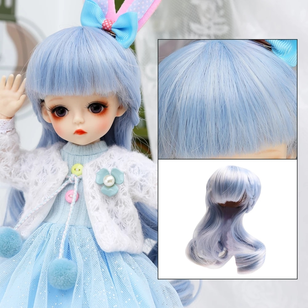 35cm black freckle bjd dolls silm full silicon african doll pretty girl toy with suit make up girls diy bjd dolls dress up toys 1/6 BJD Dolls Accessories Wig Hair For 30CM BJD Doll Girls Boys Hair For DIY Dress UP Girl Toys Accessories