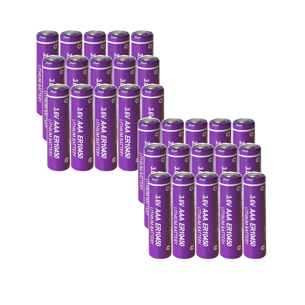 30 Uds PKCELL ER10450 700mah 3,6 V baterías de litio AAA Li-SCLO2 baterías primarias Superior R03P LR03 para contador