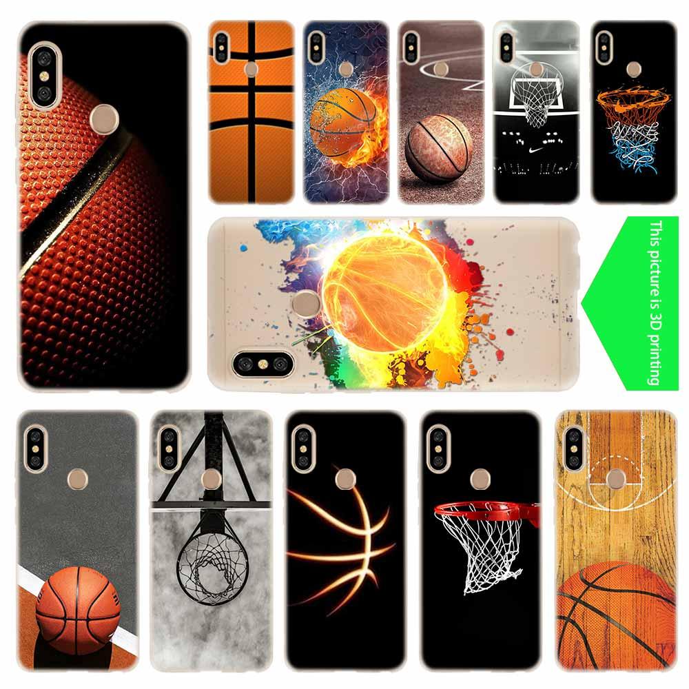 cover soft Silicone TPU Case For Xiaomi Redmi 4a 5a 6a 7a Plus 8a S2 Note 4 5 6 7 8 Pro Y2 Y3 Basketball dark