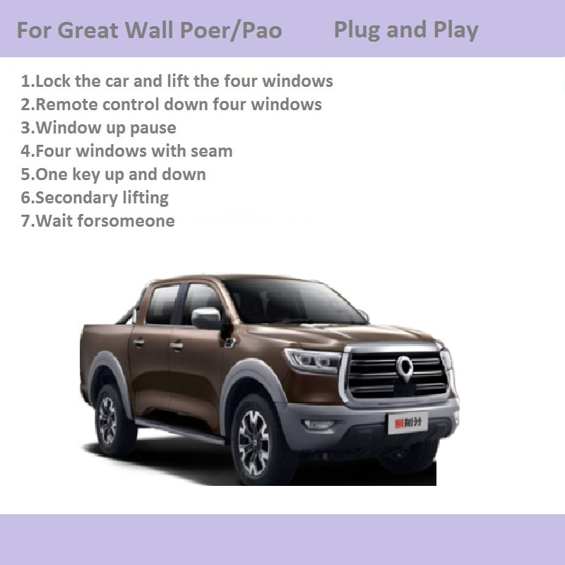 Car Automatic Window Closer Closing&Open Control By Remote Control/One Key Window Lifter For Great Wall Poer/Pao Car Accessories