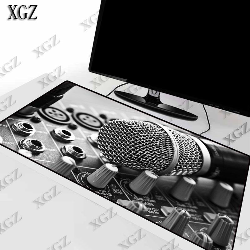 Xgz legal controle de música dj microfone gaming mousepad tapete mesa grande borda bloqueio do mouse teclado computador portátil computador muismat