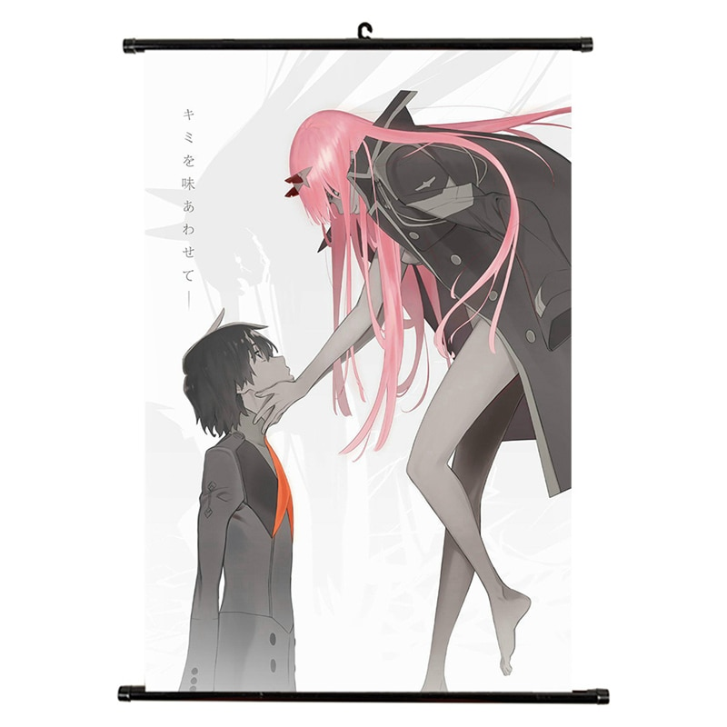 Anime DARLING In The FRANKXX Canvas Waterproof Scroll Painting Home Bedroom Wall Decoration