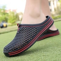 2021 men shoes beach casual mens slippers unisex hollow out casual couple beach sandal flip flops shoes non slide male slippers