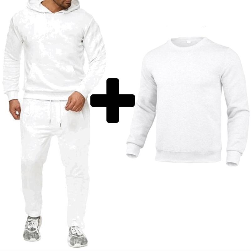 Новая мужская толстовка с логотипом на заказ, спортивная одежда, модная повседневная толстовка из двух предметов с длинным рукавом, костюм ...