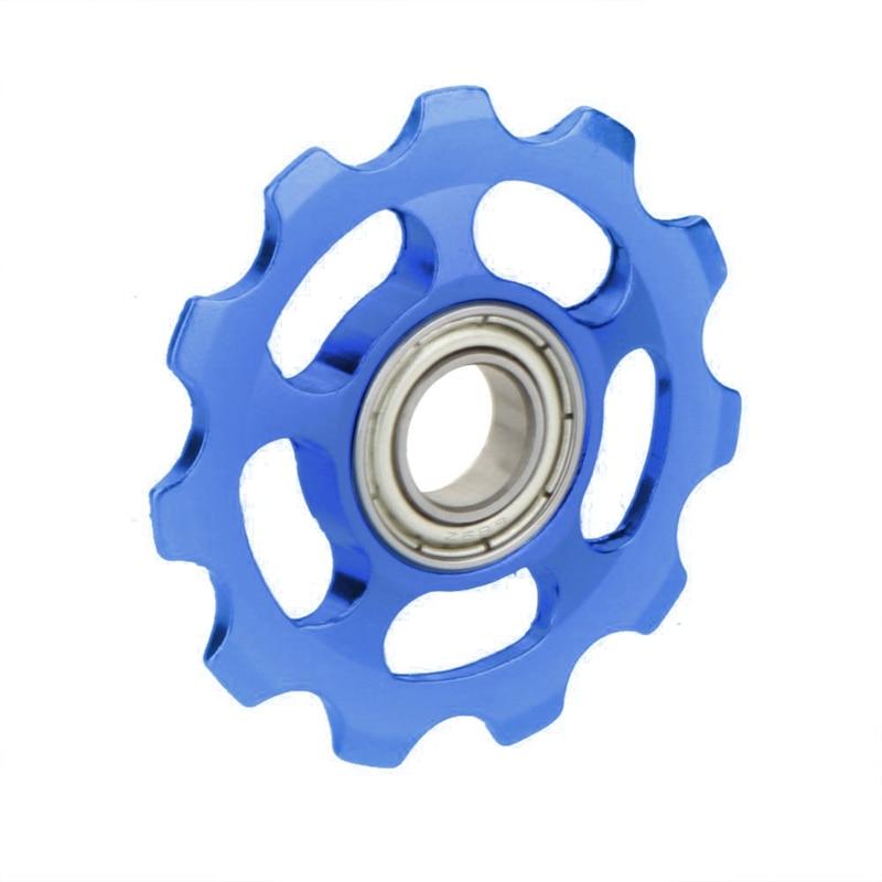 MTB Mountain Bike Road Bicycle Rear Derailleur Aluminum Alloy 11T Guide Roller Idler Pulley Jockey Wheel Part Accessory Blue