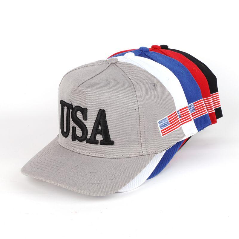 Gorra de béisbol Unisex para exteriores, gorra de béisbol para campaña de 2020, gorra de béisbol ajustable bordada 3D con bandera estadounidense de EE. UU. 45, gorra nueva