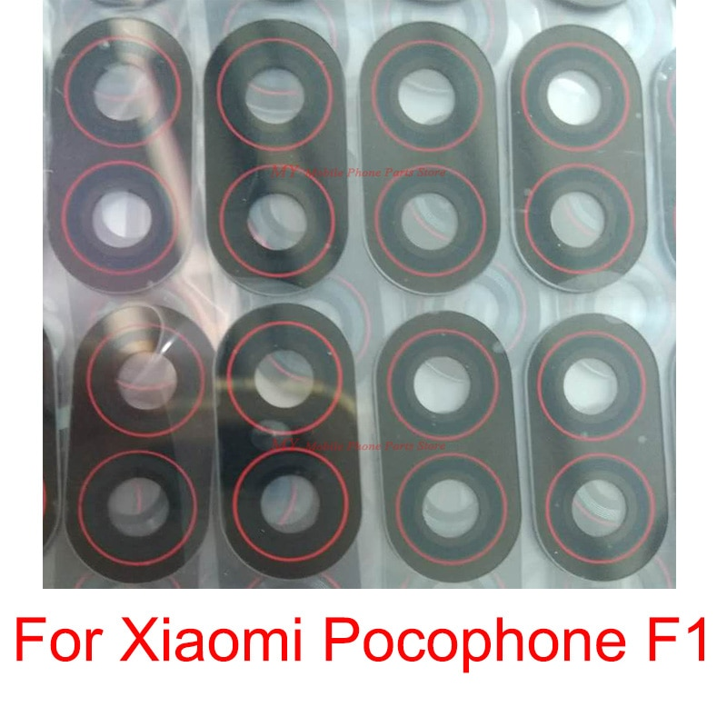 Cubierta trasera del lente de cristal de cámara posterior del teléfono celular para Xiaomi mi Pocophone F1 PocophoneF1 Back Big Camera Lens Glass repuestos