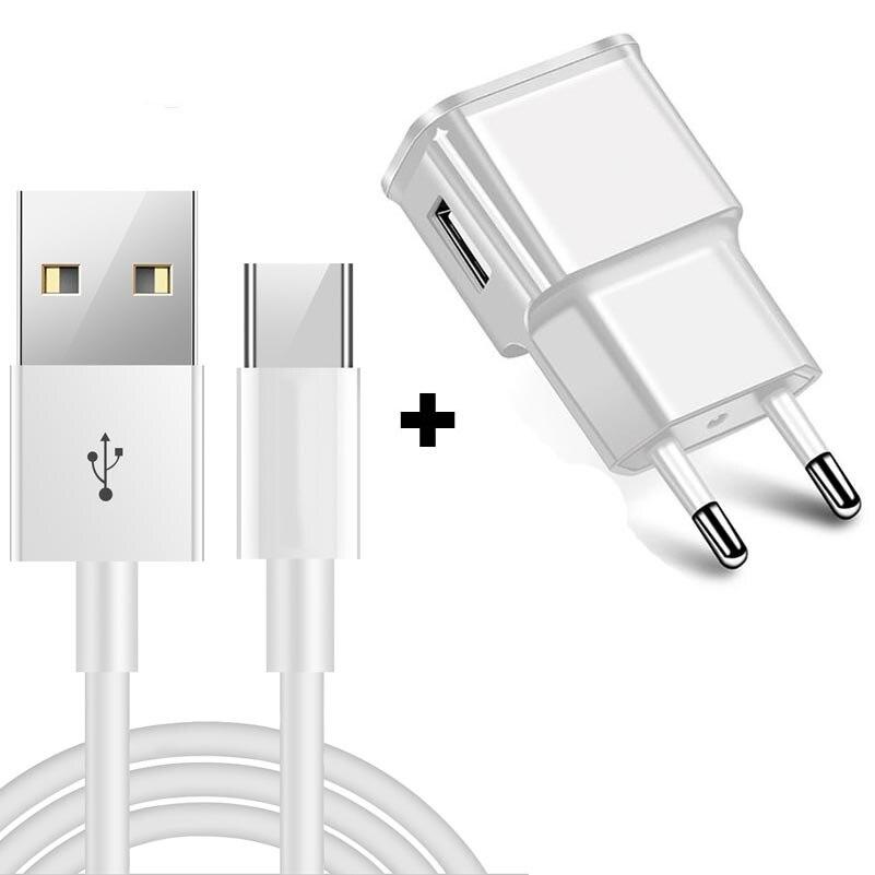Tipo C Cabo USB para Samsung Galaxy S9 S8 Rápido Cabo de Carregamento de Dados para a Huawei Companheiro 20 Pro Xiaomi Mi 8 USB-Tipo C Plug UE Charger