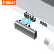 Магнитный адаптер USB C, 24 контакта, Тип C, разъем Thunderbolt 3 PD 100 Вт, быстрая зарядка, 40Gbp/s конвертер для переключателя iPad MacBook Pro