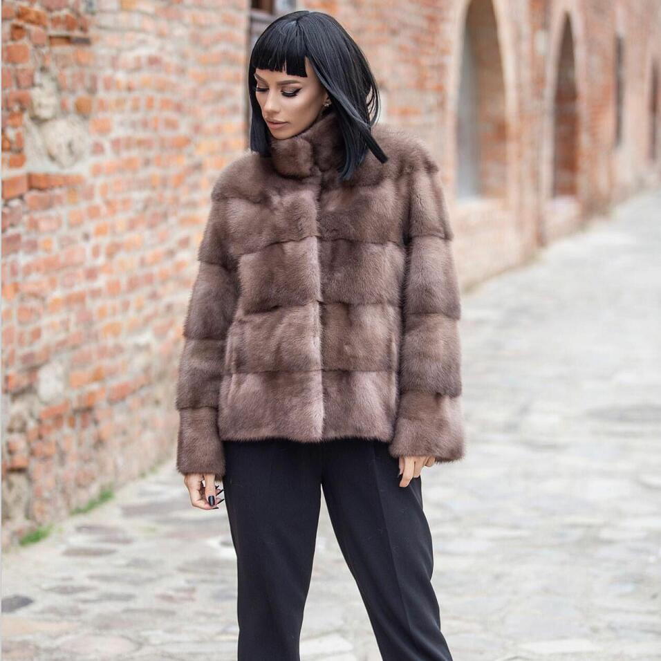 100% Natural Mink Fur Coat Winter Luxury Real Mink Fur Coat For Women Genuine Mink Fur Ladies Jackets Oversize 2021 New Arrival