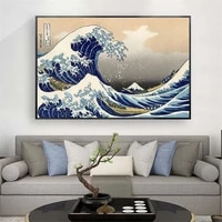 the great wave off kanagawa canvas paintings on the wall art posters and prints classical famous seascape art pictures cuadros