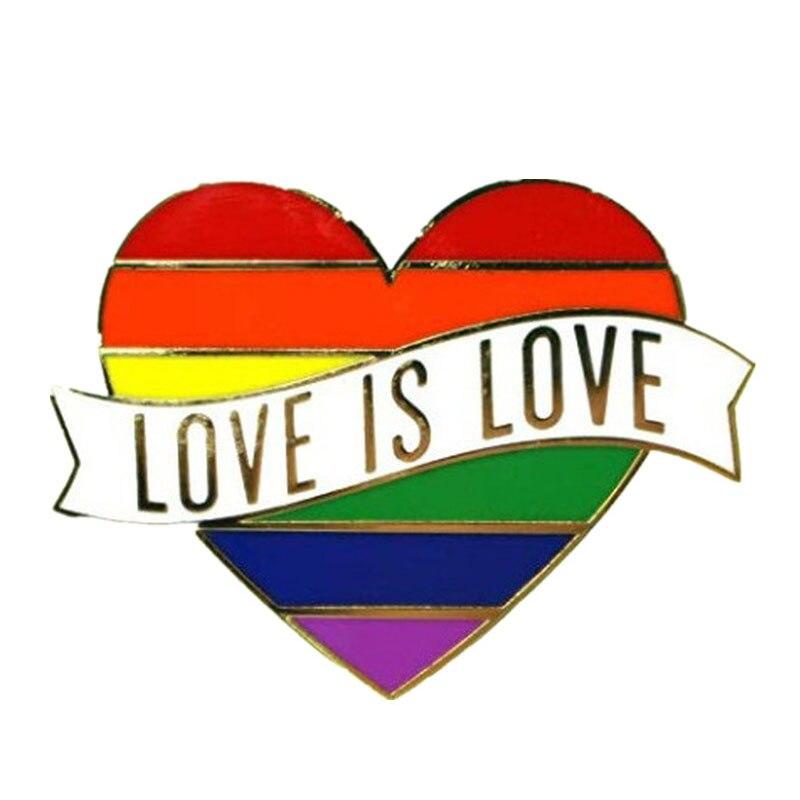 1 шт. ЛГБТ гордыня Радуга Сердце пинбэк Кнопка значок гей лесбиянок символ булавка любовь равна DIY Одежда Альпака Швейные аксессуары