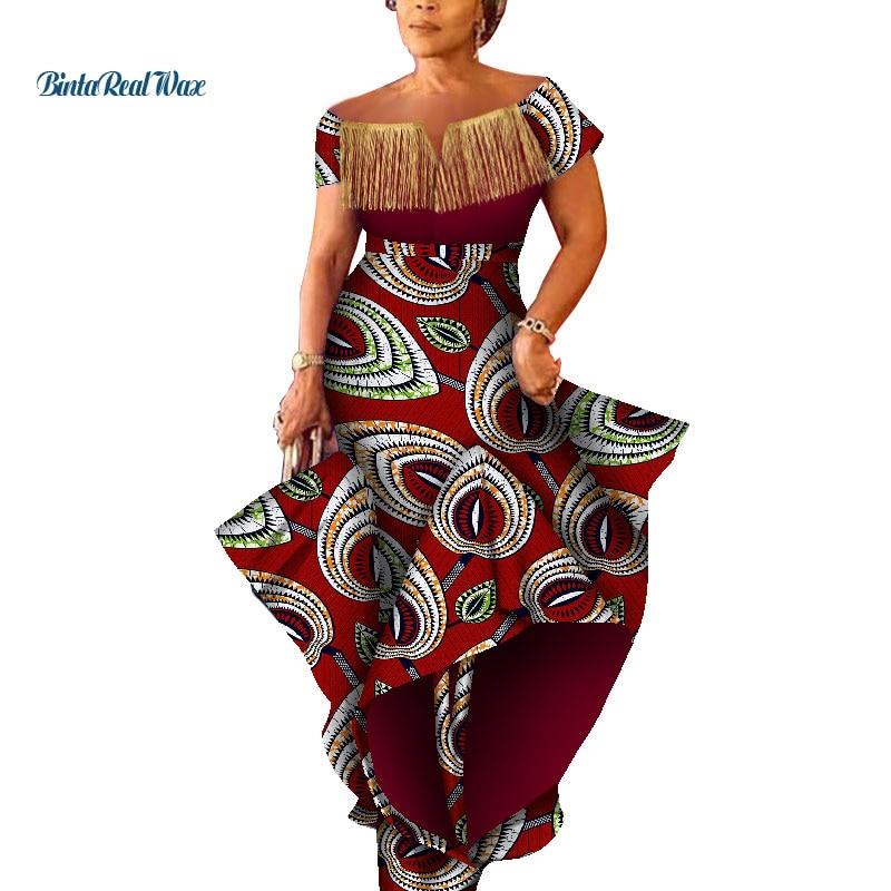 Moda bazin riche tassel vestido plus size bolha vestido africano vestidos de impressão para as mulheres vestidos africano ancara roupas wy5069