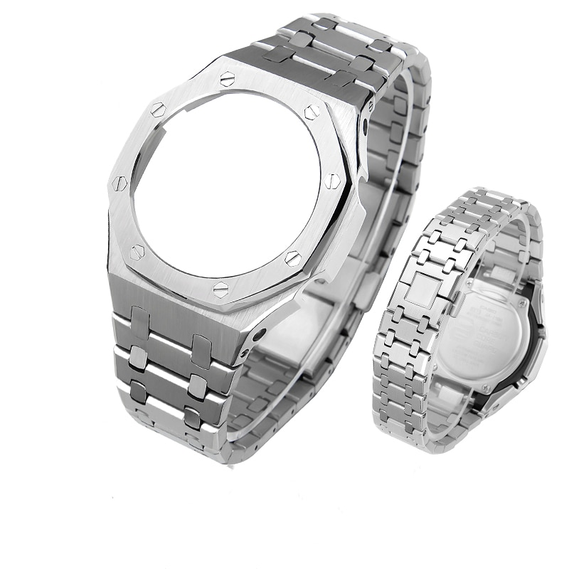 GA2100 3rd Update Modification Generation Watchband  Bezel For GA-2100 GA-2110 100% 316L Stainless Steel Accessories With Tools enlarge