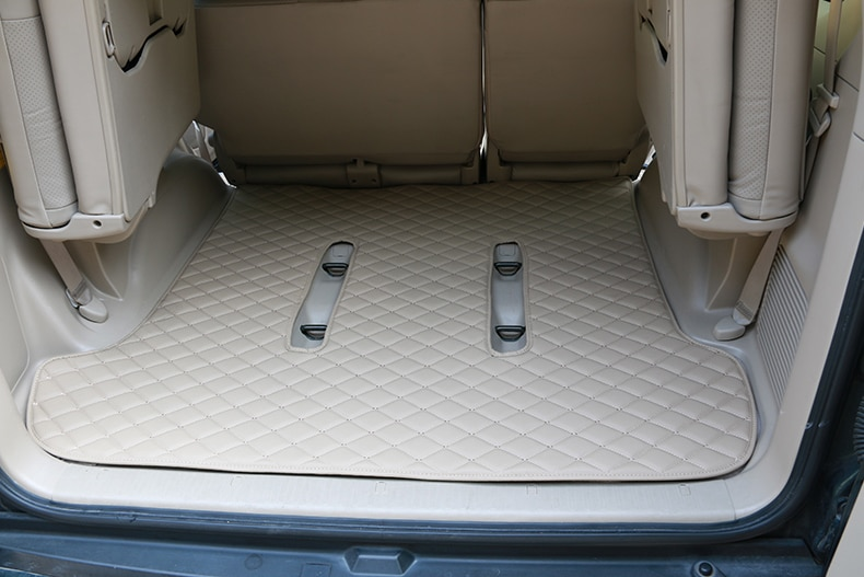 Leather Car Rear Trunk Floor Mat Carpets For Toyota Land Cruiser Prado 120 FJ120 2003 2004 2005 2006 2007 2008 2009 Accessories enlarge