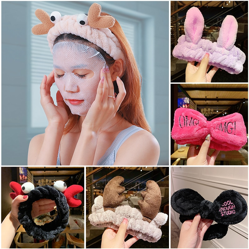 AliExpress - JIFANPAUL Hot Fashion Accessories Wash Face Hair Holder Hairbands Soft Warm Coral Fleece Bow Animal Ears Headband For Girls