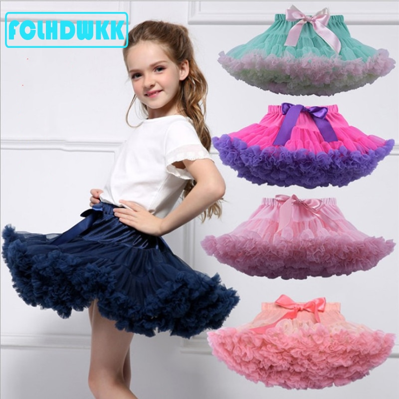 Kids Girls Tulle Skirt Baby Girl Clothes Tutu Pettiskirt Skirt Fashion Girl Clothes Princess Skirts