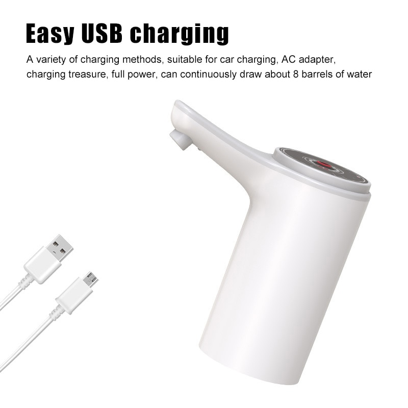 Universal Water Bottle Pumps Electric Drinking Water Pumps Low Noise USB Charging Portable Automatic