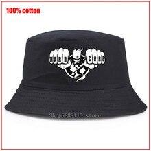 Thunderdome Hardcore Panama seau chapeau hommes femmes été mignon fille superman seau casquette Bob chapeau Hip Hop pêche pêcheur chapeau