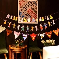 best selling 28cm childrens first birthday flags baby party supplies school opening ceremonygraduation season decoration diy