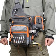 Fishing Bag Portable Multifunction Canvas Splash waterproof Fishing Bag Multi-function Waist Bag Pack Sling Bag 16 * 24 * 7.5cm