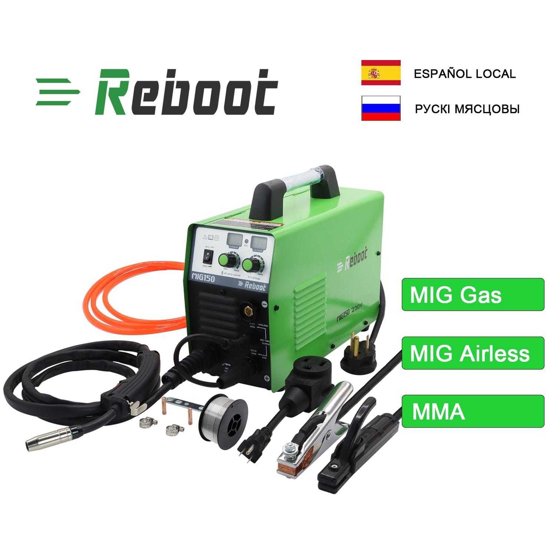 MIG Welder MIG150 Gas/Gasless Welder AC220V 2 in 1 Flux Core Wire Inverter Welding Machine MMA MIG MAG IGBT Inverter Welder