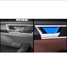 Lsrtw2017-panneau de porte intérieure de voiture en acier inoxydable, pour Skoda superbe, accessoires de moules intérieurs de voiture, 2016, 2017, 2018, 2019, 2020