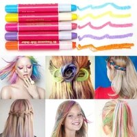 12 color temporary hair chalk pens crayon salon washable hair color dye face kit safe for makeup party christmas gift for kids