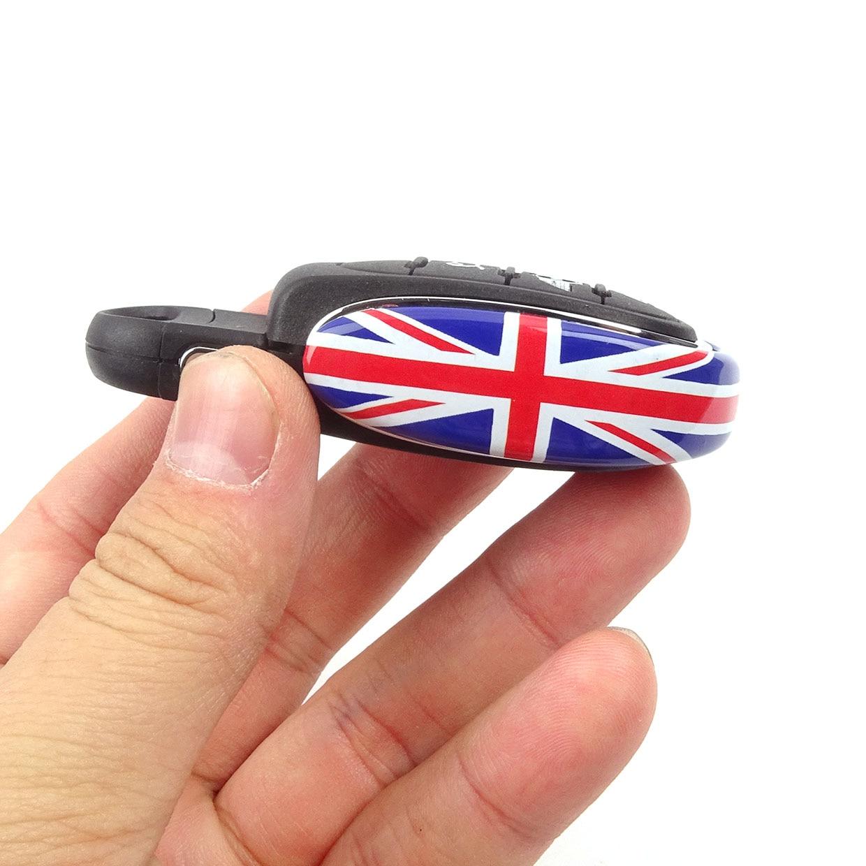 Union Jack, llavero de decoración para coche con estilo, funda protectora para cadena de llaves para Mini Cooper S F54 F55 F56 F60, accesorios