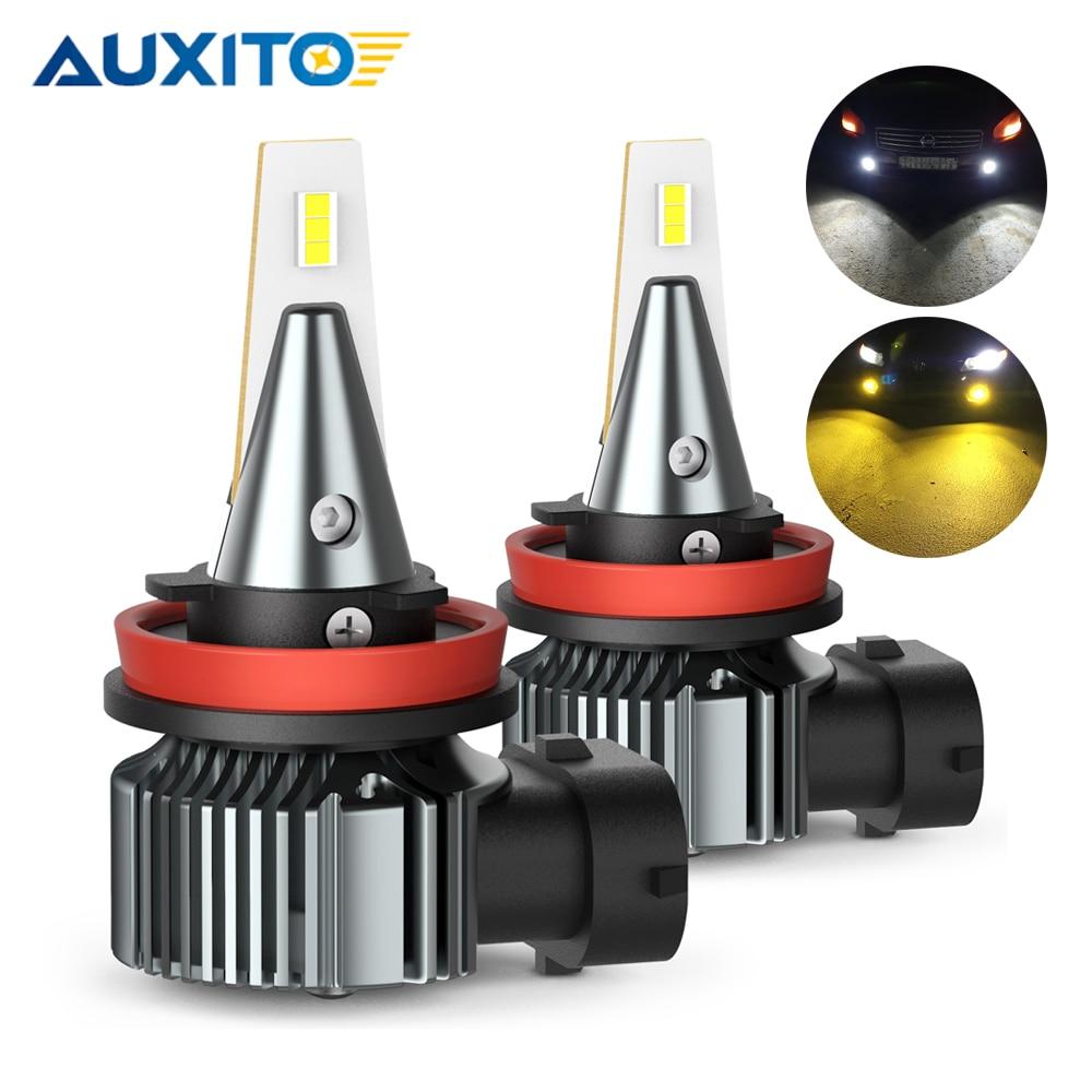 2Pcs H8 H11 LED Yellow White 6500K Car Fog Light Bulbs for Audi BMW Mercedes Ford Chevrolet Lamp LED H27 880 881 9005 HB3 H10