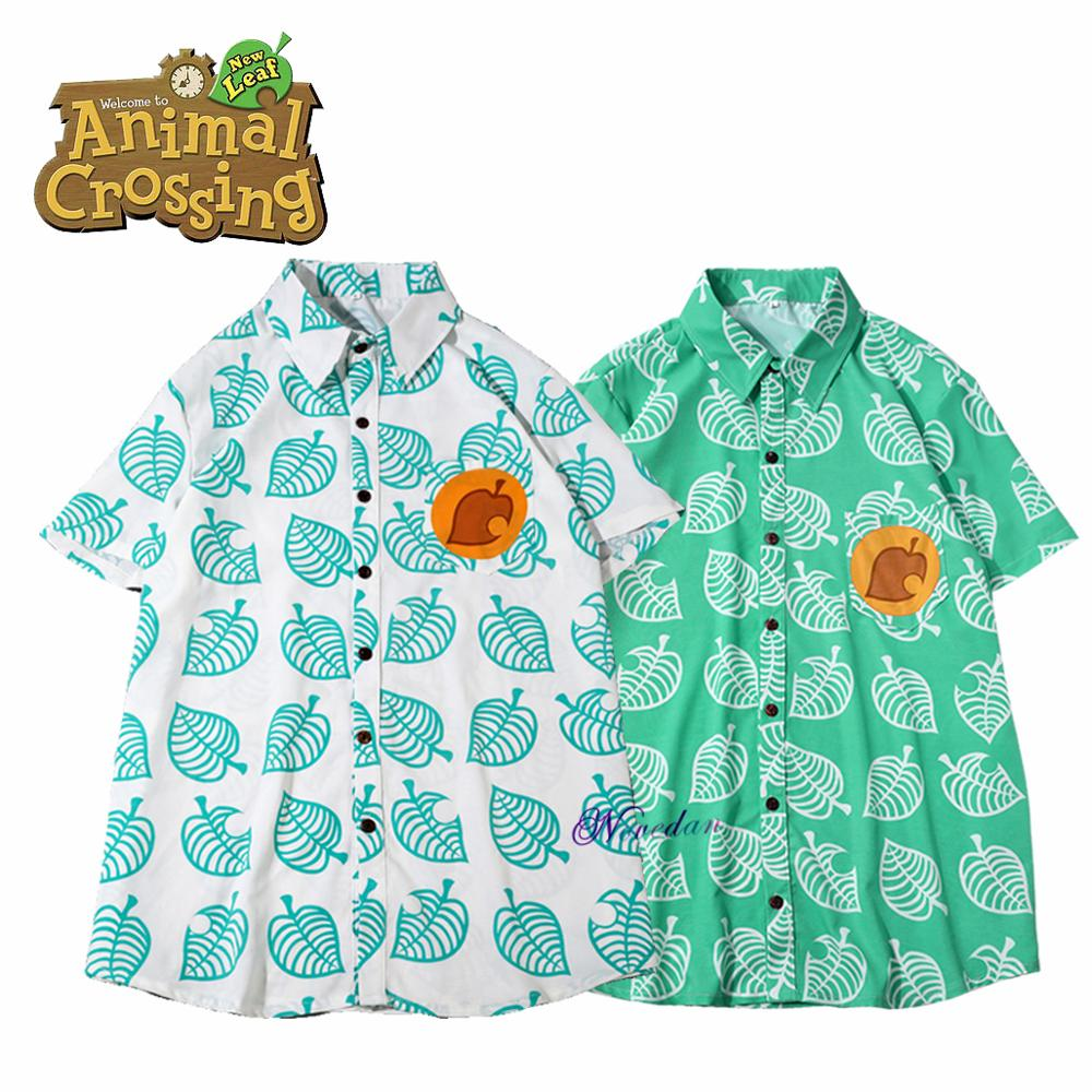 Animal Crossing New Horizons Leaf Tom Nook Cosplay Shirt Men Women Anime Gaming T-shirt Short Sleeve Costume T Shirt Adult Kids