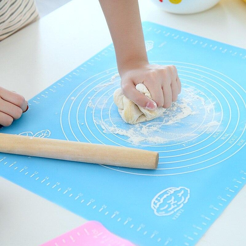 Almohadilla de amasar de silicona de doble escala, alfombrilla antiadherente para cocina, pastelería, revestimiento para horno, herramientas para masa, accesorios de cocina